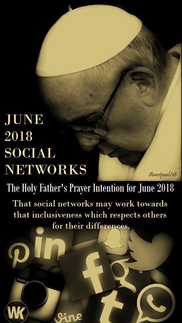 holy father's prayer intention june 2018 - 1 june 2018