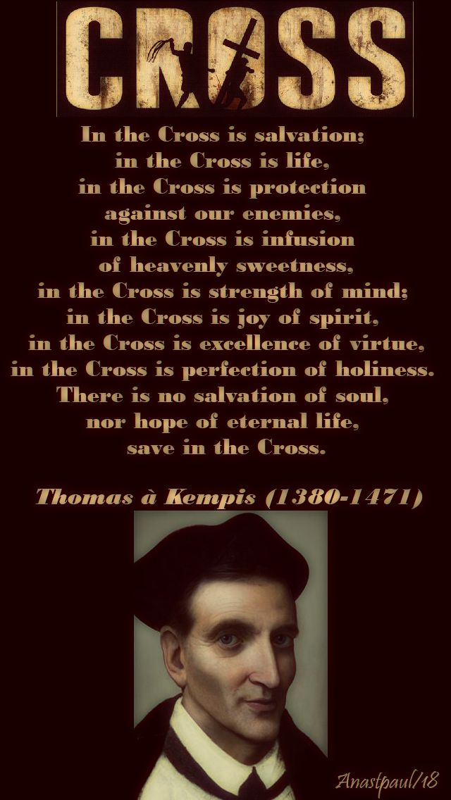 in the cross - thomas a kempis - 14 june 2018 - no 2