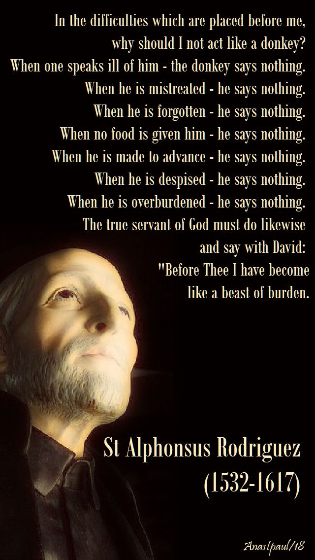 in the difficulties which are placed before me - st alphonsus rodriguez - 20 june 2018