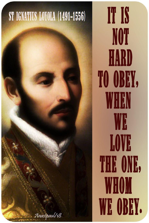 it is not hard - st ignatius - 11 june 2018 - seeking sainthood