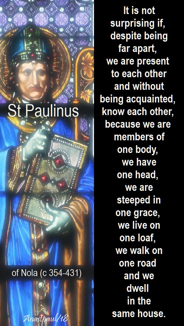 it is not surprising if - st paulinus of nola - 22 june 2018