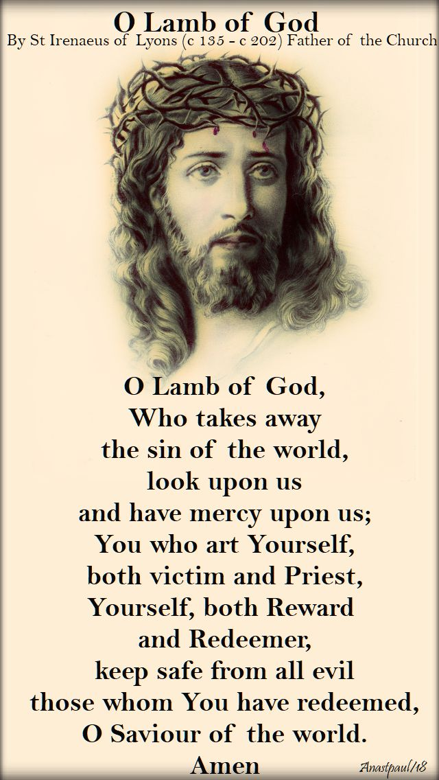 o lamb of god - st irenaeus of lyons - 28 june 2018