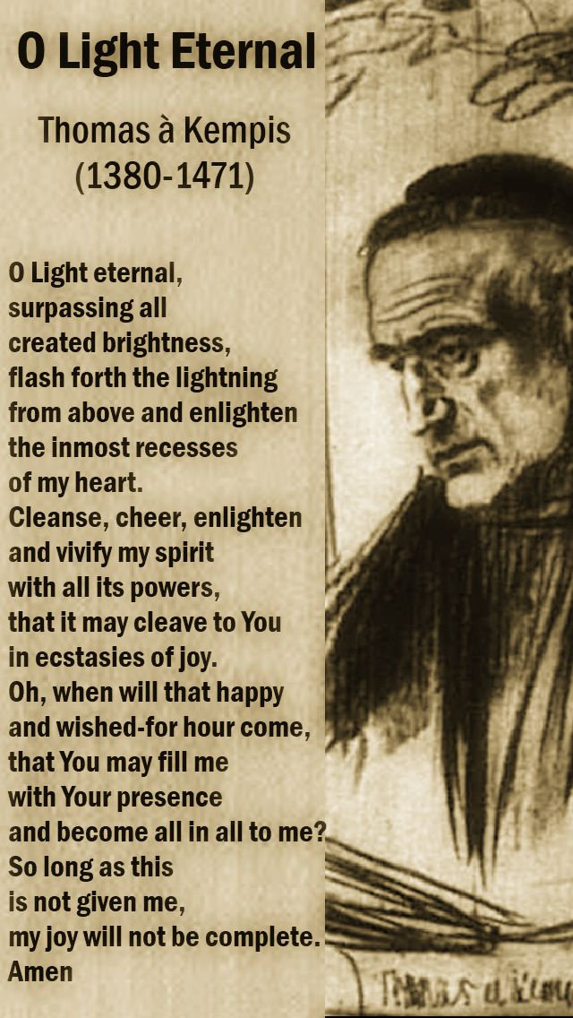o light eternal - thomas a kempis - 25 june 2018 - beige old light