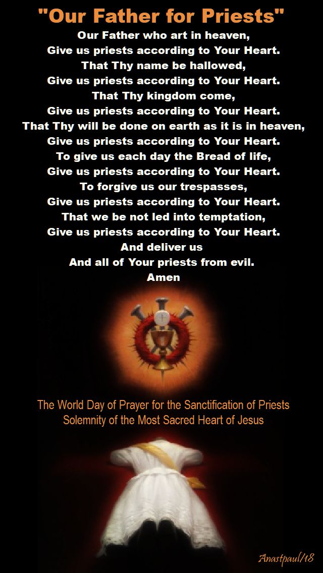 our father for priests - sacred heart solemnity - 8 june 2018