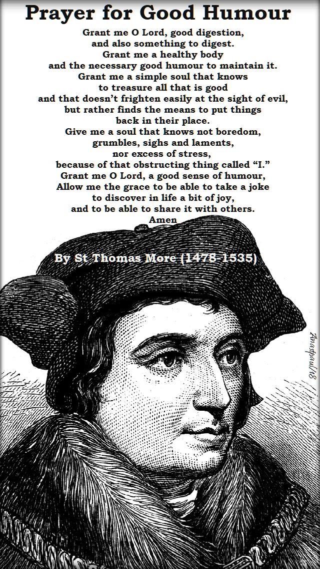 prayer for good hmour - st thomas more - 22 june 2018