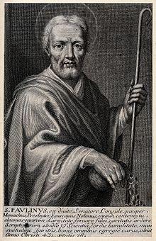 Saint_Paulinus_of_Nola._Line_engraving._Wellcome_V0032823