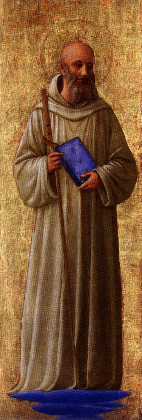 San Romualdo, from the San Marco altarpiece by Fra Angelico