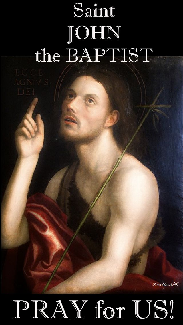 st john the baptist - pray for us - 24 june 2018