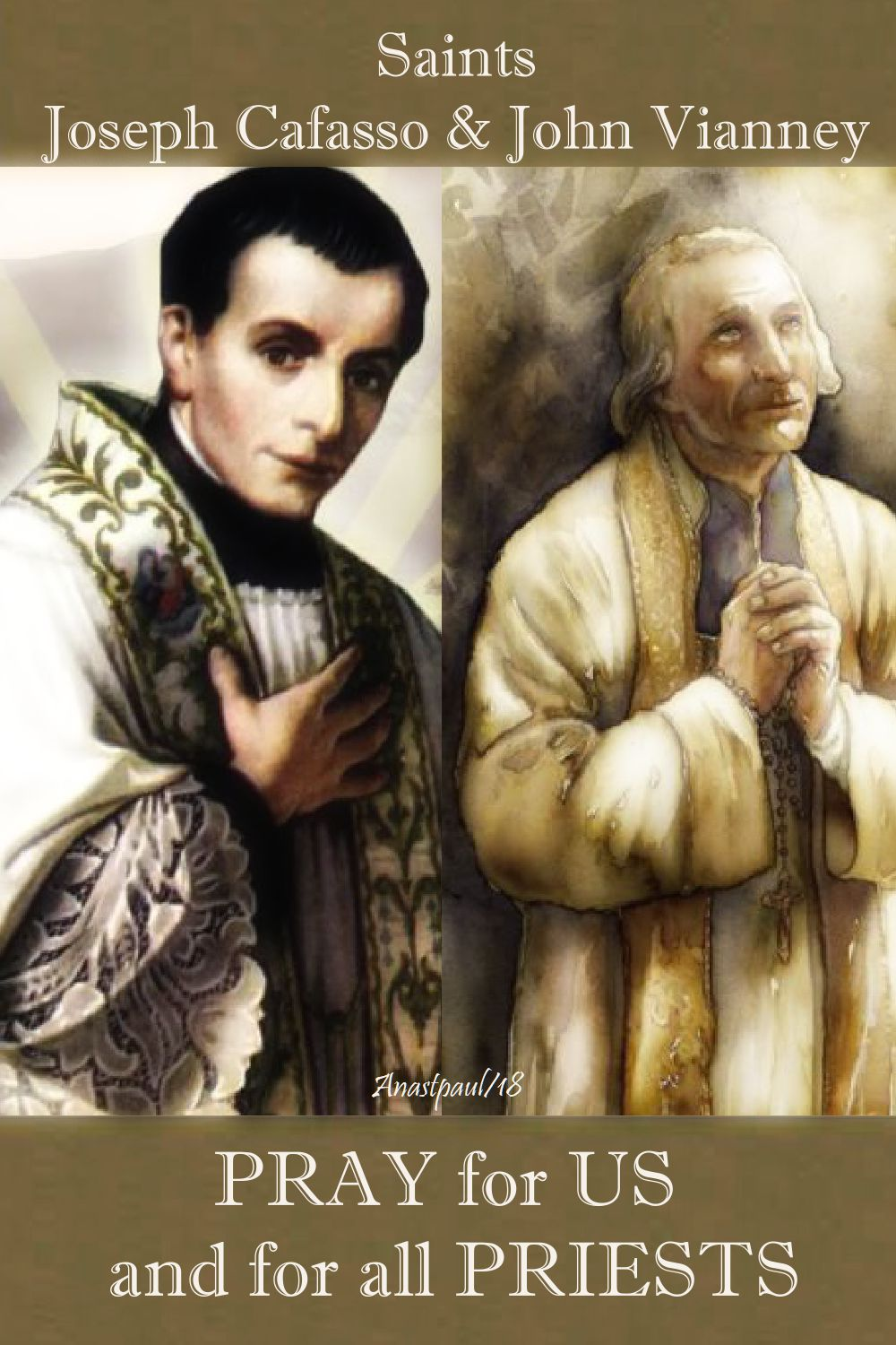 sts joseph cafasso and john vianney - pray for us and all priests - 23 june 2018