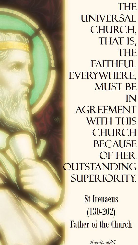 the universal church - st irenaeus