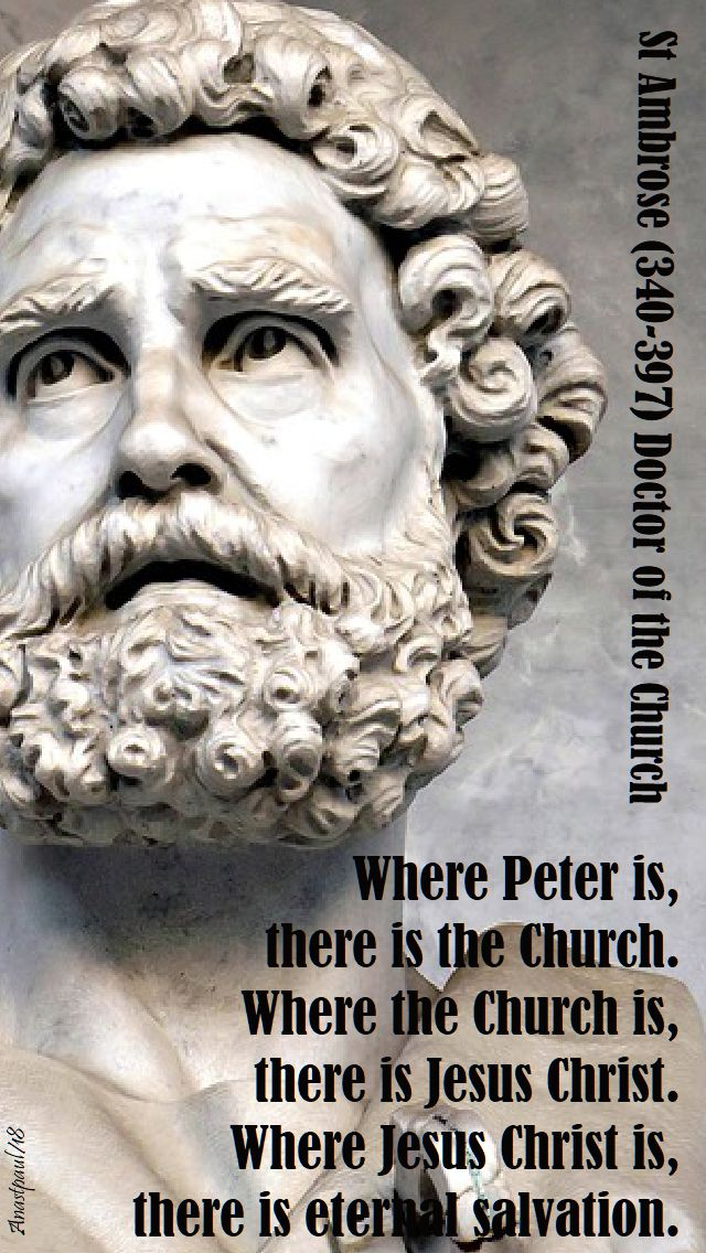 where peter is - st ambrose - 29 june 2018
