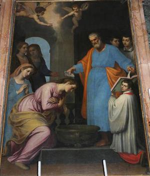baptism of priscilla - Aventino