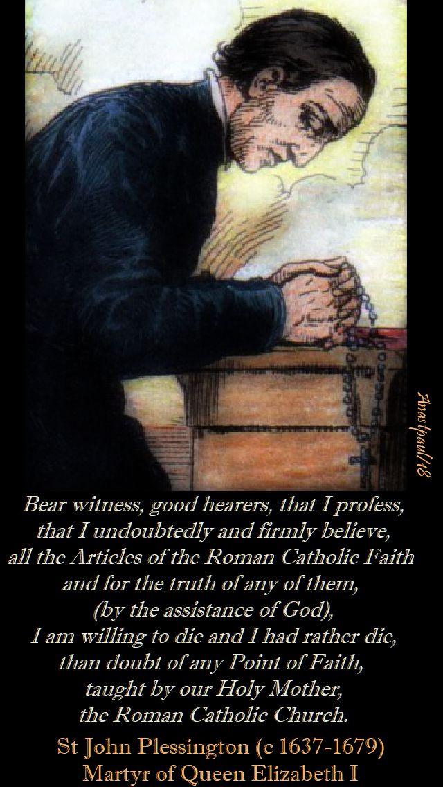 bear witness good hearers - st john plessington - 19 july 2018