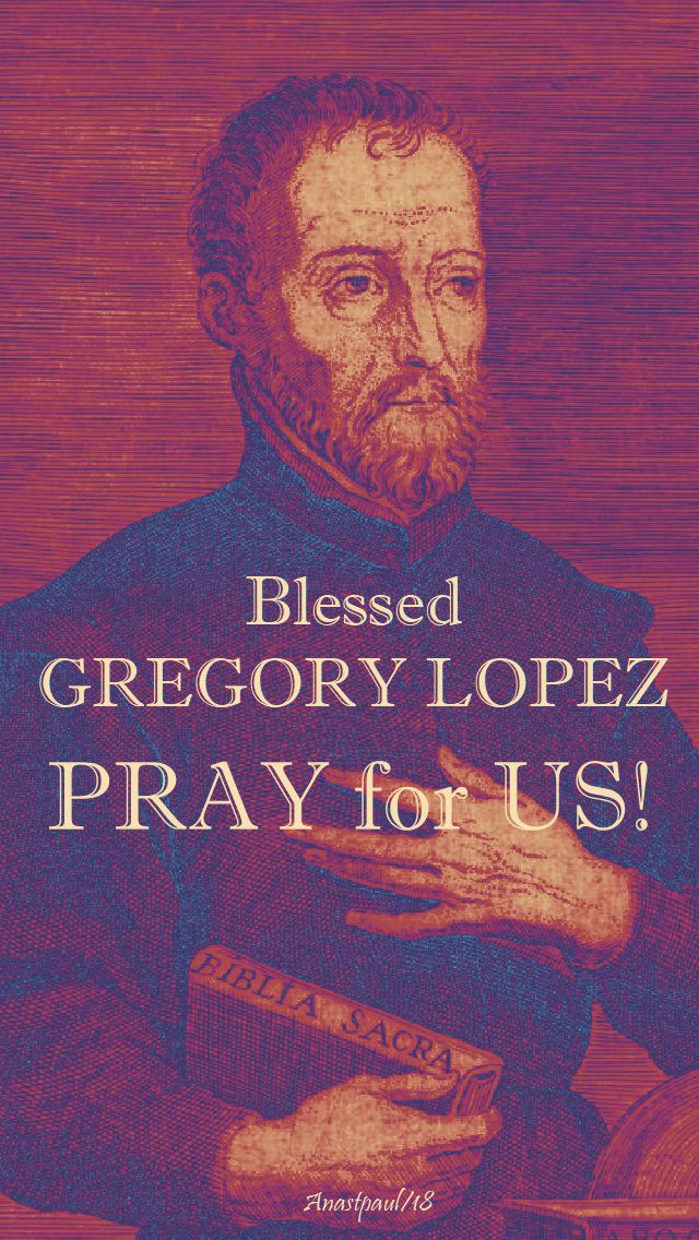 bl gregory lopez pray for us - 20 july 2018