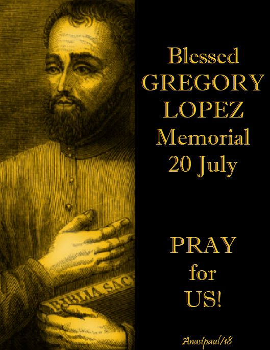 bl gregory lopez pray for us - no 2 - 20 july 2018