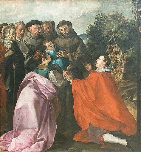 cure of the infant bonaventure by st francis
