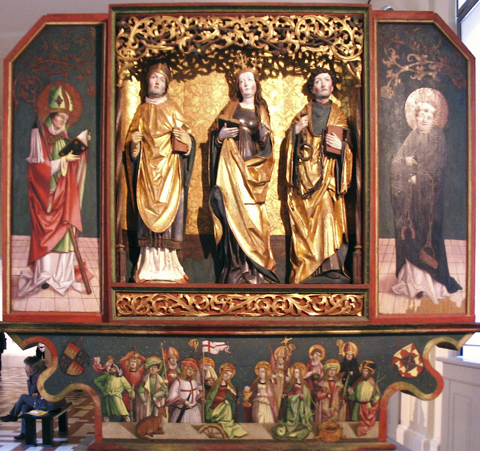 Holy Helpers triptych - anon