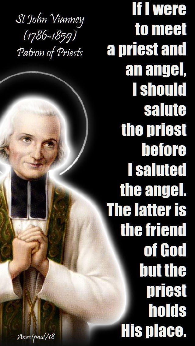 if i were to meet a priest - st john vianney - 18 july 2018