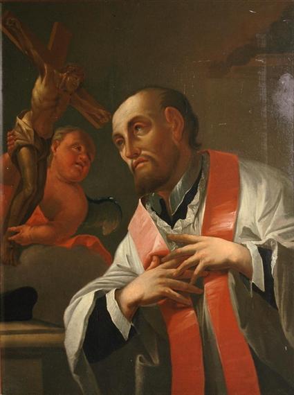 Milanese School, Saint Ignatius Loyola Receiving a Vision of the Crucified Chri