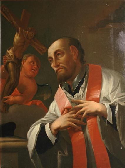 Milanese School, Saint Ignatius Loyola Receiving a Vision of the Crucified Chri