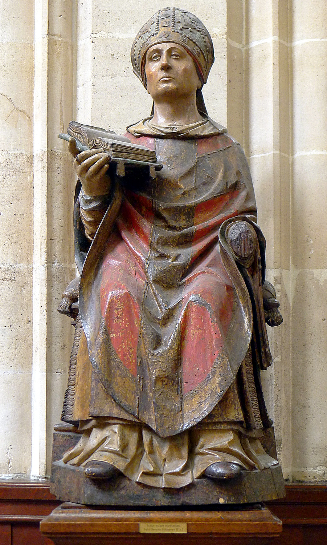 P1010345_Paris_Ier_Eglise_Saint-Germain_l'Auxerrois_statue_Saint-Germain_reductwk
