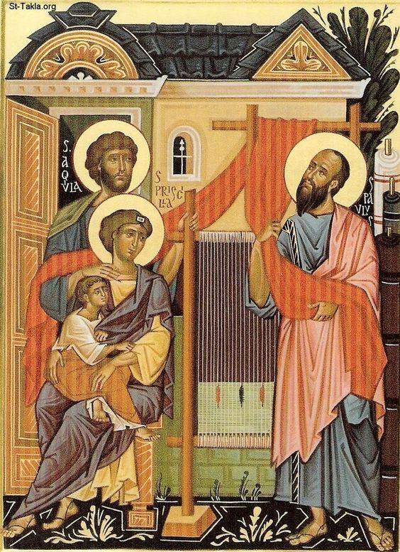 Paul, priscilla and aquila - icon