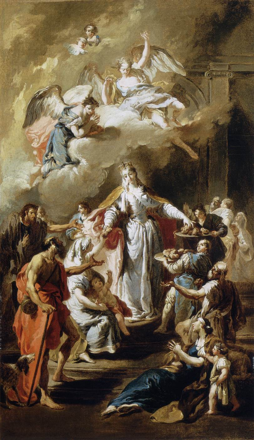 Pittoni,_Giambattista_-_St_Elizabeth_Distributing_Alms_-_1734