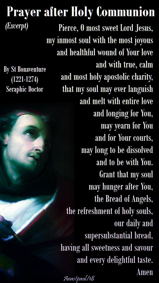 prayer after holy comm - by st bonaventure - 15 july 2018