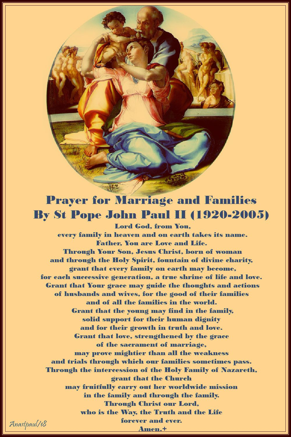 prayer for marriage and family - st john paul - 8 july 2018- no 2