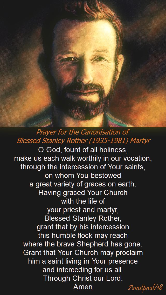 prayer for the canonisation of bl stanley rother - 28 july 2018