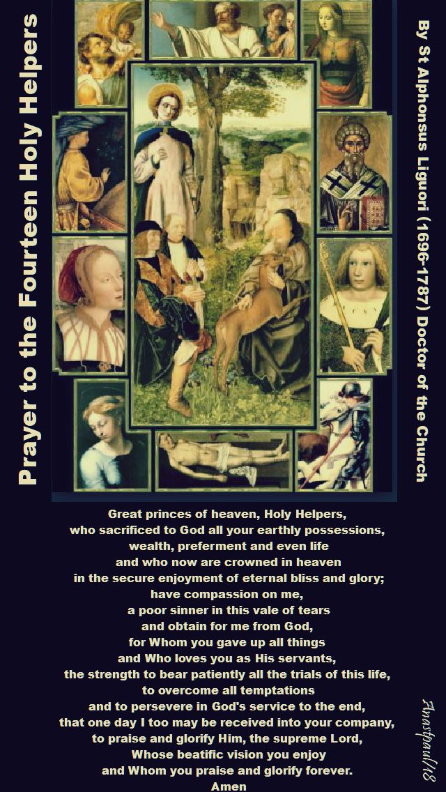 prayer to the 14 holy helpers by st alphonsus - 25 july 2018