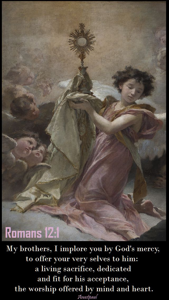 romans-12-1 - my brothers I implore you by God's mercy - 31 july 2017