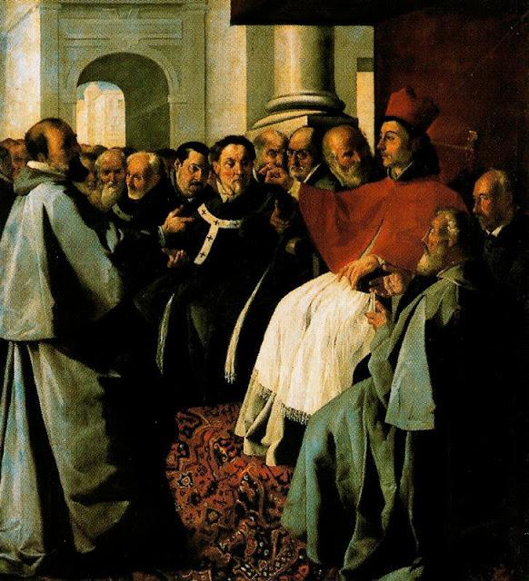 San Buenaventura en el concilio de Lyon