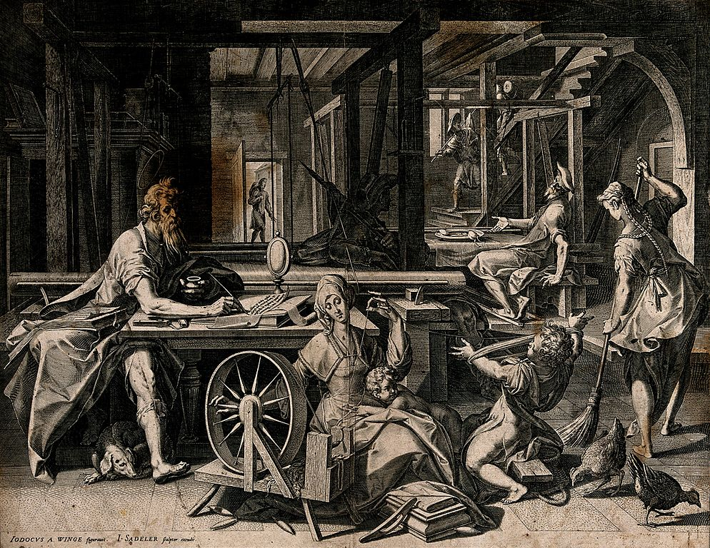 St._Paul_is_staying_in_the_house_of_Aquila_and_his_wife_Pris_Wellcome_V0039575