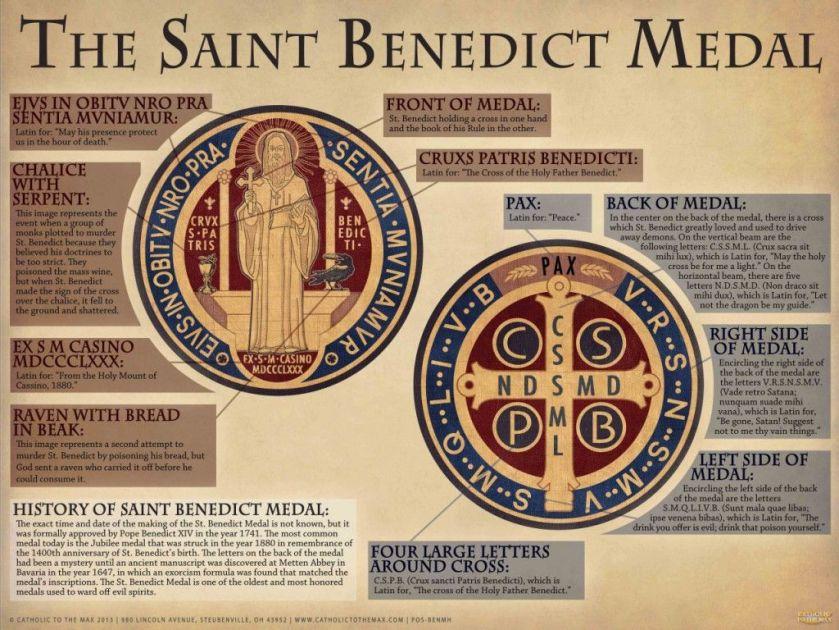 st benedict medal