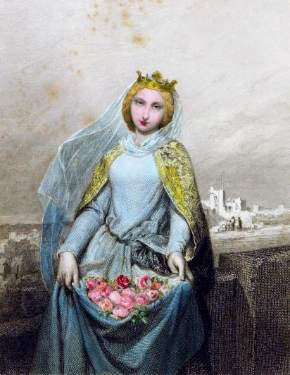 st elizabeth of portugal - v l - beautiful - miracle of the roses