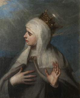 Spanish (Madrilenian) School; Saint Elizabeth of Portugal (1271-1336); National Trust, Upton House; http://www.artuk.org/artworks/saint-elizabeth-of-portugal-12711336-131971