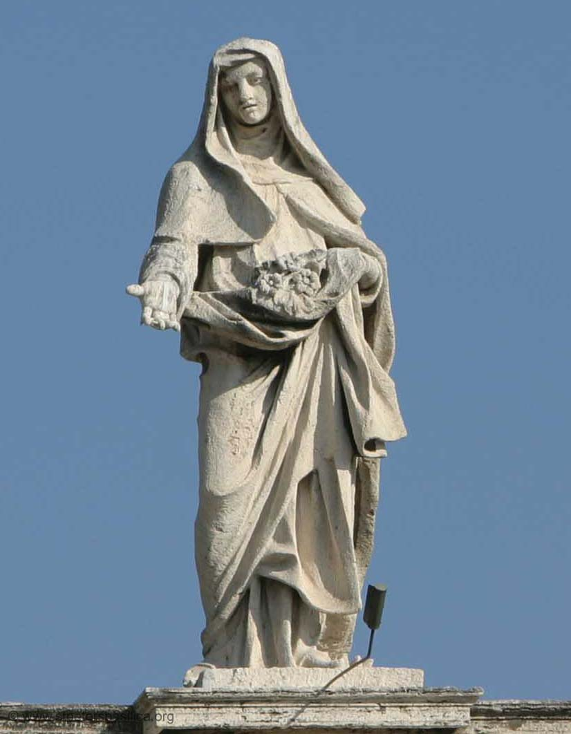 StElizabethofPortugal - on the colonade at st peters, rome