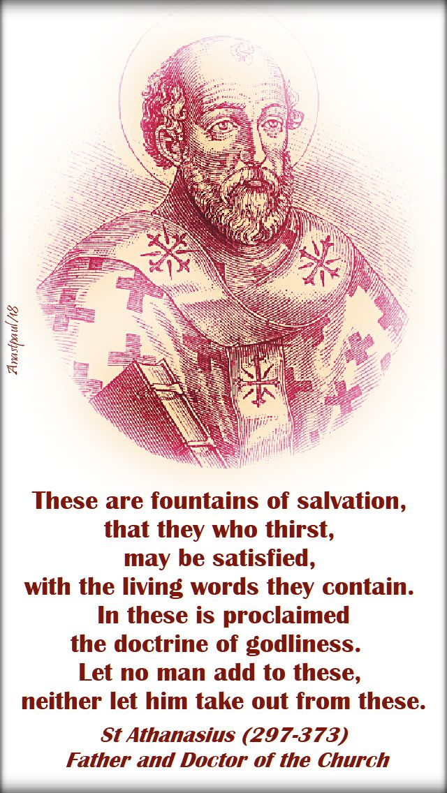 these are fountains of salvation - st athanasius - 13 july 2018