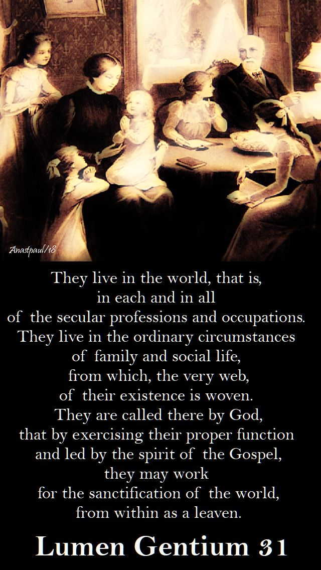 they live in the world - lumen gentium 31