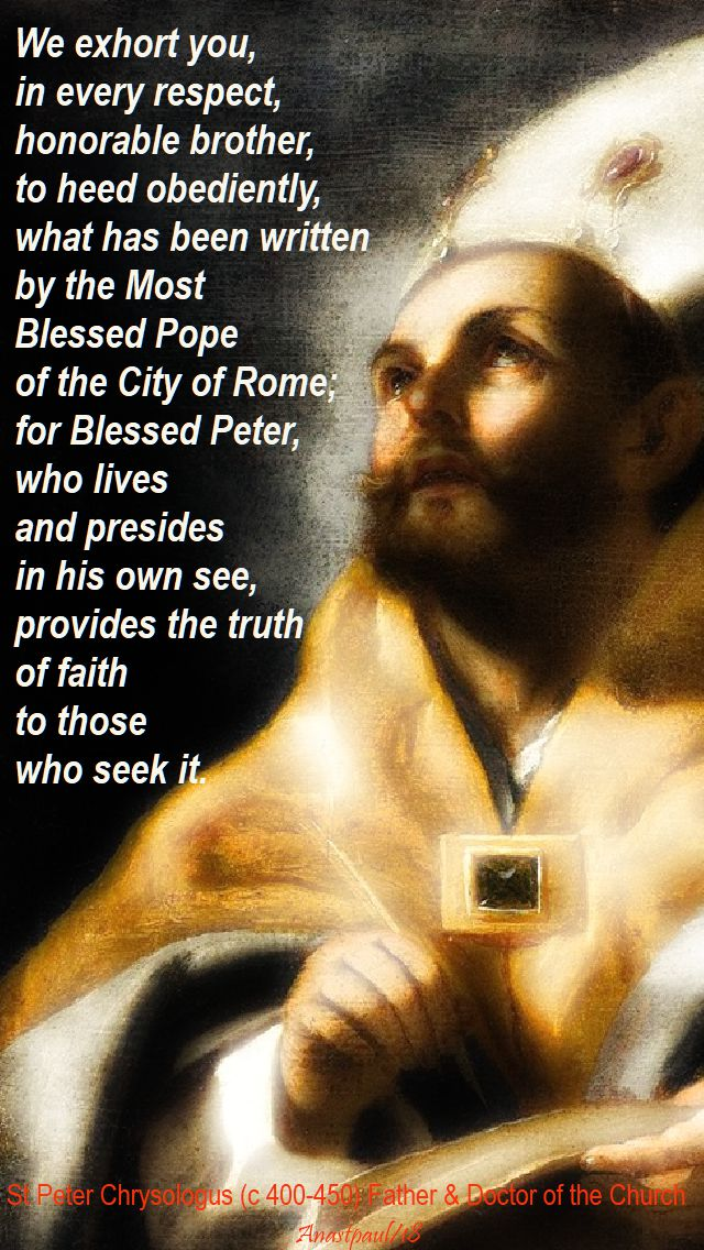 we exhort you - st peter chrysologus - 30 july 2018