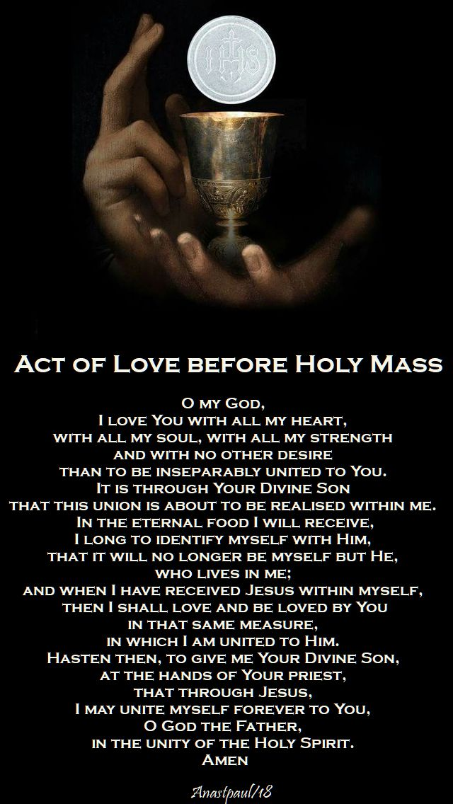 act of love before holy mass - 5 aug 2018