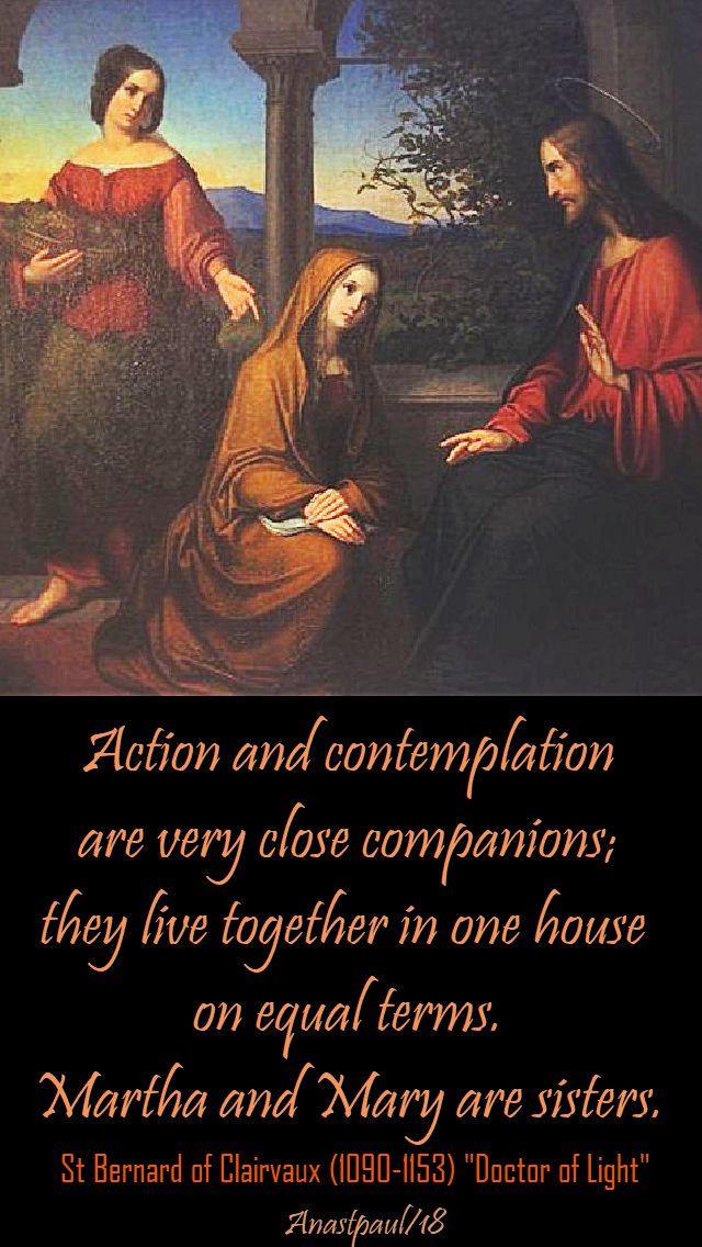 action and contemplation - st bernard - 20 aug 2018