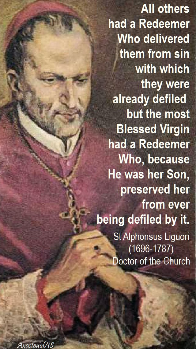 all others had a redeemer - st alphonsus - 15 jan 2018