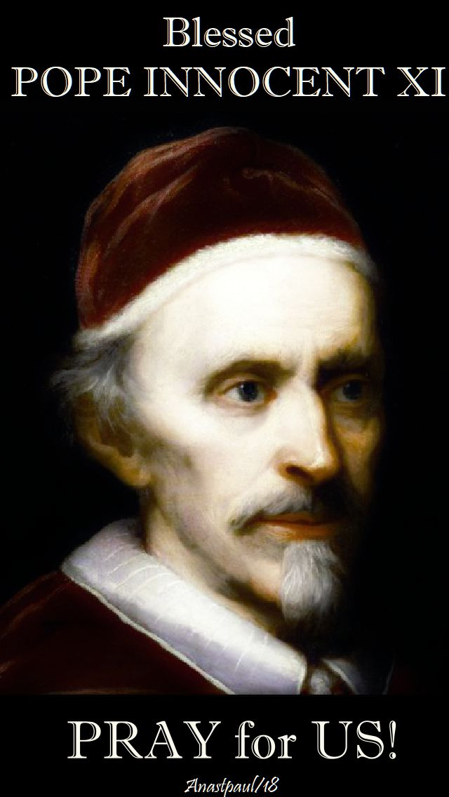 bl pope innocent xi - pay for us - 12 august 2018