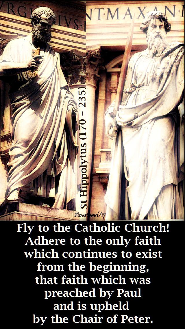 fly to the catholic church - st hippolytus - 13 aug 2018