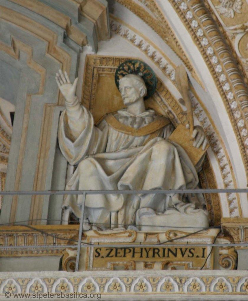header st pope zephyrinus