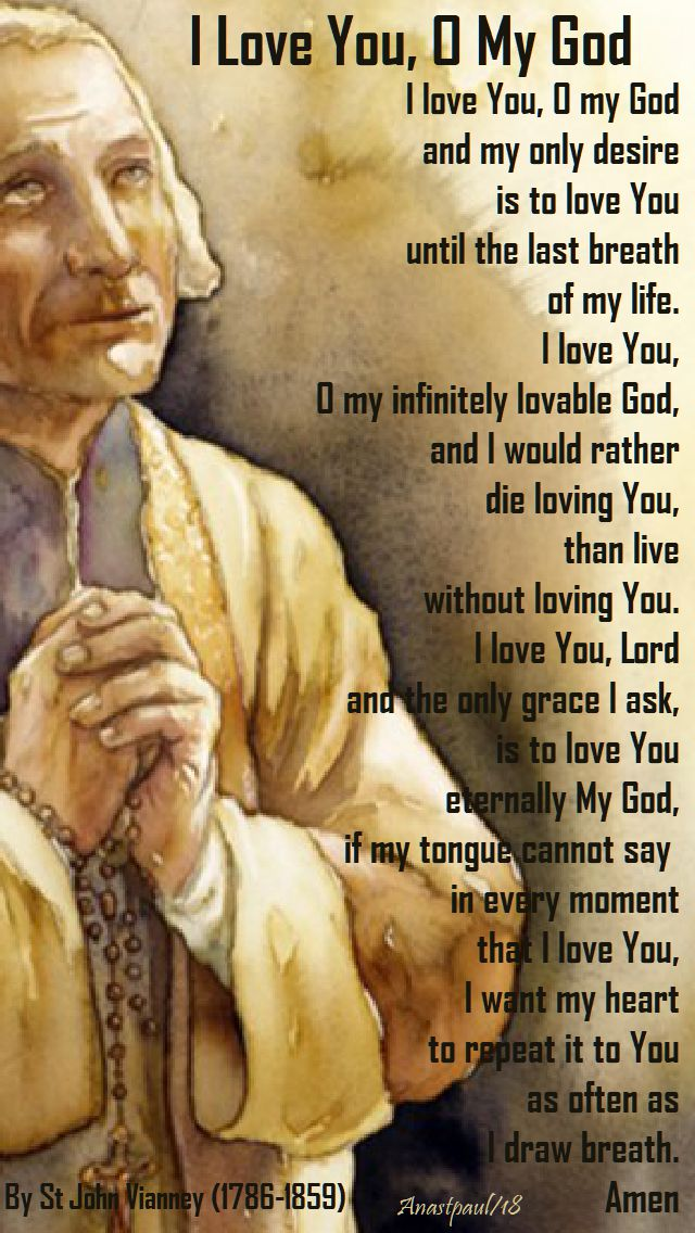 i love you o my god - st john vianney and the CCC - 4 august 2018