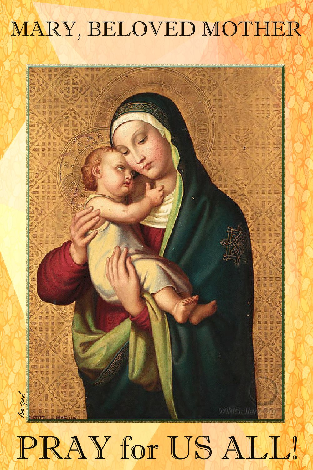 mary beloved mother-pray for us all
