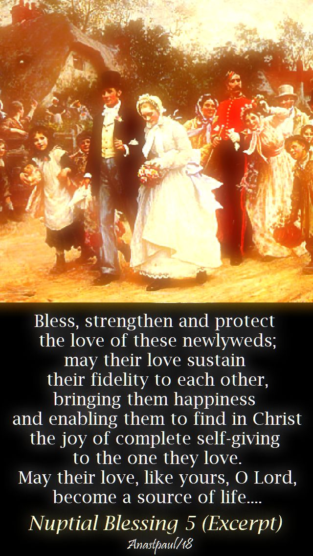 nuptial blessing 5 excerpt - 17 aug 2018